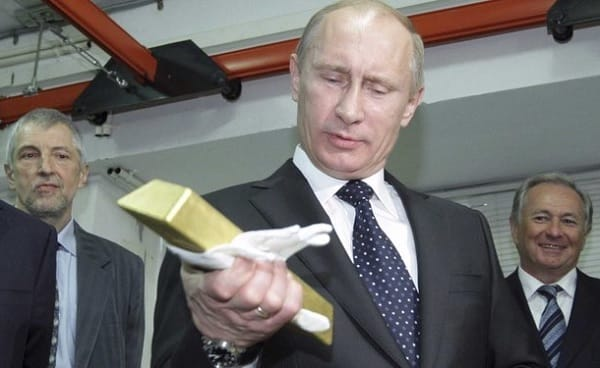 putin russia and gold